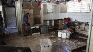 The floods caused extensive damage to property.