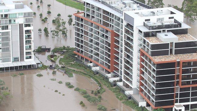 Tennyson Reach, flooded in 2011.