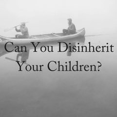 Can You Disinherit Your Children- (1)
