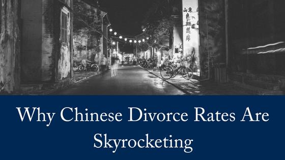 Chinese Divorce Rates Skyrocketing