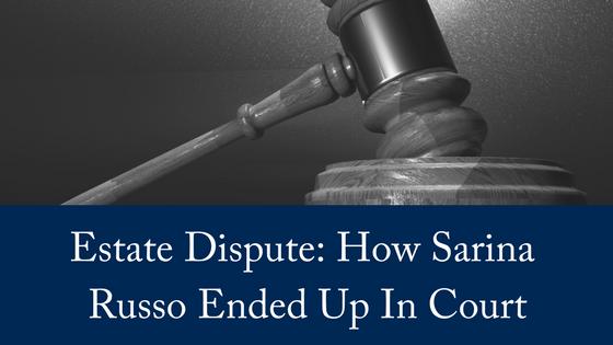 Estate Dispute: Sarina Russo In Court