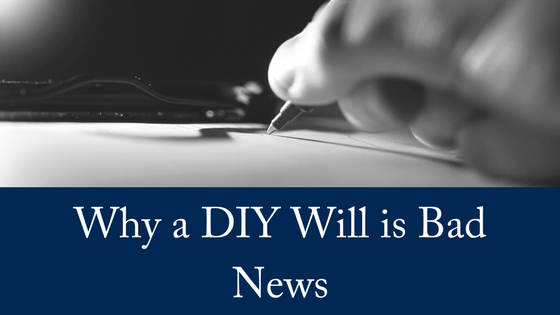 Why a DIY Will Is Bad News, Says Specialist